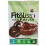 Fit & Lean, Fit & Lean Instant Pudding Mix, Chocolate Donut, 6-0.89 oz Packets, Net Wt 5.39 oz (153 g)   Comprar Suplemento em Promoção Site Barato e Bom