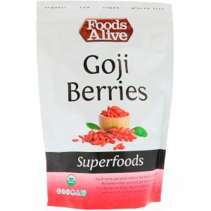 Foods Alive, Alimentos, Bagas de Goji, 8 oz (227 g)   Comprar Suplemento em Promoção Site Barato e Bom