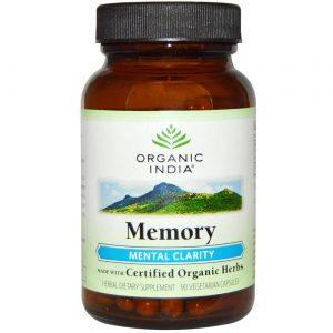 Organic India Clareza Mental de Memória 90 Cápsulas Vegetarianas   Comprar Suplemento em Promoção Site Barato e Bom