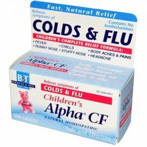 Boericke and Tafel Crianças Alpha CF Homeopática Resfriado e gripe 100 Tabletes   Comprar Suplemento em Promoção Site Barato e Bom