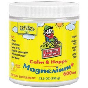 Natural Balance Happy Camper Calm & Happy Magnésio, Limão - 350 gram Powder   Comprar Suplemento em Promoção Site Barato e Bom
