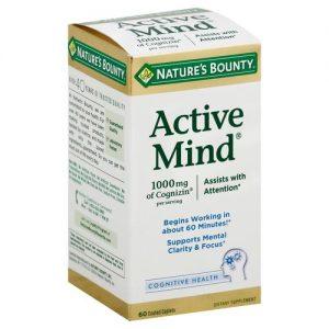Nature's Bounty Active Mind - 60 Caplets   Comprar Suplemento em Promoção Site Barato e Bom