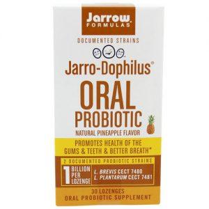 Jarrow Formulas Jarro-Dophilus Oral Probiotic, Abacaxi - 30 Lozenges   Comprar Suplemento em Promoção Site Barato e Bom