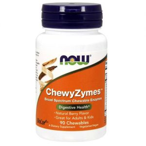 ChewyZymes Now Foods Sabor Natural Berry 90 Chewables   Comprar Suplemento em Promoção Site Barato e Bom