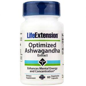 Life Extension Otimizado Ashwagandha Extrato 60 Cápsulas Vegetarianas   Comprar Suplemento em Promoção Site Barato e Bom