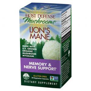 Host Defense Mushrooms Lion's Mane 30 Vegetarian Capsules   Comprar Suplemento em Promoção Site Barato e Bom