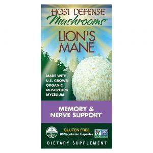 Host Defense Mushrooms Lion's Mane 60 Vegetarian Capsules   Comprar Suplemento em Promoção Site Barato e Bom