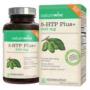 NatureWise 5-HTP Plus+ 200 mg 60 Vegetarian Capsules   Comprar Suplemento em Promoção Site Barato e Bom