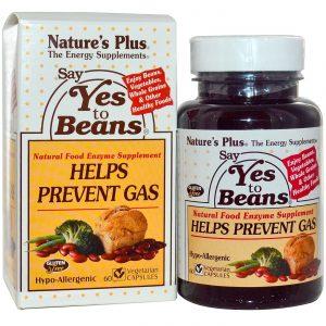 Nature's Plus Diga sim ao Beans Complexo enzimático 60 VegiCápsulas   Comprar Suplemento em Promoção Site Barato e Bom