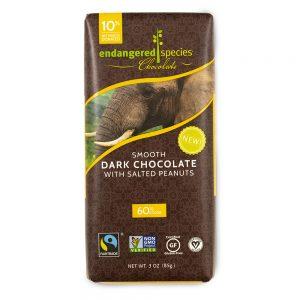 Endangered Species Chocolate, Smooth Dark Chocolate with Salted Peanuts, 3 oz (85 g)   Comprar Suplemento em Promoção Site Barato e Bom