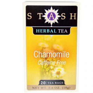 Stash Tea, Chá Herbal Premium, Camomila, Sem Cafeína, 20 Saquinhos, 0,6 oz (18 g)   Comprar Suplemento em Promoção Site Barato e Bom