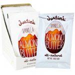 Justin's Nut Butter, Manteiga de Baunilha e Amêndoas, 10 Pacotinhos de Apertar, 1.15 oz (32 g) Cada   Comprar Suplemento em Promoção Site Barato e Bom