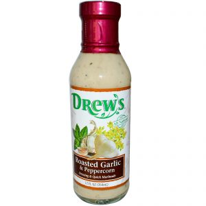 Drew's Organics, Molho & Marinada Rápida, Alho Torrado & Pimenta do Reino, 12 fl oz (354 ml)   Comprar Suplemento em Promoção Site Barato e Bom