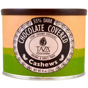 Taza Chocolate, Orgânicas, Com 55% de Chocolate Amargo tipo Chão de Pedra, Castanhas de Caju Cobertas de Chocolate, 8 oz (226 g)   Comprar Suplemento em Promoção Site Barato e Bom