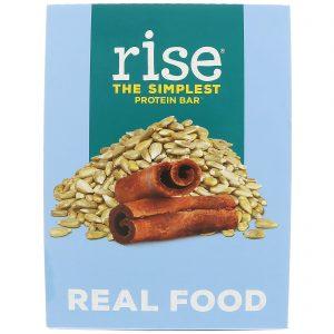 Rise Bar, The Simplest Protein Bar, Girassol e Canela, 12 Barras, 60 g Each   Comprar Suplemento em Promoção Site Barato e Bom