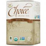 Choice Organic Teas, Chá Branco, Orgânico, Peônia Branca, 16 Saquinhos, 8 oz (24 g)   Comprar Suplemento em Promoção Site Barato e Bom