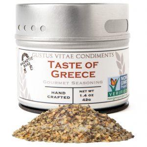 Gustus Vitae, Gourmet Seasoning, Taste of Greece, 1.4 oz (42 g)   Comprar Suplemento em Promoção Site Barato e Bom