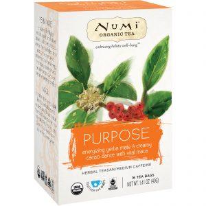Numi Tea, Organic Tea, Herbal Teasan, Purpose, 16 Tea Bags, 1.41 oz (40 g)   Comprar Suplemento em Promoção Site Barato e Bom