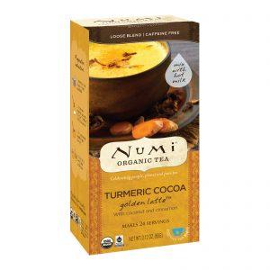 Numi Tea, Organic Tea, Loose Tea, Turmeric Cocoa, Golden Latte, Caffeine Free, 2.12 oz (60 g)   Comprar Suplemento em Promoção Site Barato e Bom