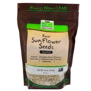 Now Foods, Real Food, sementes cruas de girassol, sem sal, 16 oz (454 g)   Comprar Suplemento em Promoção Site Barato e Bom