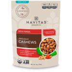 Navitas Organics, Organic Cashews, Goji Basil, 4 oz (113 g)   Comprar Suplemento em Promoção Site Barato e Bom