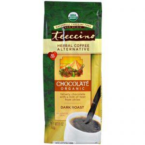 Teeccino, Café orgânico herbal alternativo, torra escura, sem cafeína, chocolate, 11 oz. (312 g)   Comprar Suplemento em Promoção Site Barato e Bom