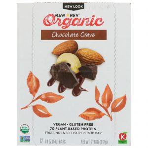 Raw Revolution, Organic, Chocolate Crave, 12 Bars, 1.8 oz (51 g) Each   Comprar Suplemento em Promoção Site Barato e Bom