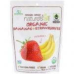 Natierra Nature's All , Organic Freeze-Dried, Bananas + Strawberries, 1.8 oz (51 g)   Comprar Suplemento em Promoção Site Barato e Bom