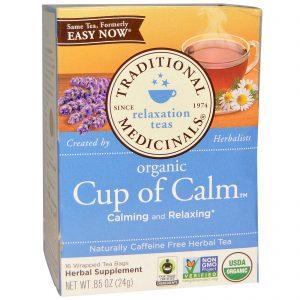 Traditional Medicinals, Chá de Ervas, Orgânico, Xícara de Tranquilidade, Sem Cafeína, 16 Pacotes de Chá Embalados, 0,85 oz (24 g)   Comprar Suplemento em Promoção Site Barato e Bom