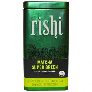 Rishi Tea, Folhas Soltas de Chá Verde Orgânico, Matcha Super Verde, 1.76 oz (50 g)   Comprar Suplemento em Promoção Site Barato e Bom