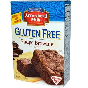 Arrowhead Mills, Mistura para Brownie Fudge Sem Glúten, 496 g (17,5 oz)   Comprar Suplemento em Promoção Site Barato e Bom