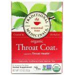 Traditional Medicinals Chá Brasão Throat 16 sacos   Comprar Suplemento em Promoção Site Barato e Bom