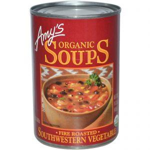 Amy's, Sopas Orgânicas, Assada ao Fogo, Vegetais do Sudoeste, 14.3 oz (405 g)   Comprar Suplemento em Promoção Site Barato e Bom