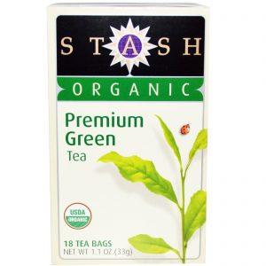 Stash Tea, Chá Verde Orgânico Premium, 18 Saquinhos, 1,1 oz (33 g)   Comprar Suplemento em Promoção Site Barato e Bom