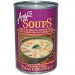 Amy's, Sopas, Tom Kha Phak, Côco Tailandês, 14.1 oz (400 g)   Comprar Suplemento em Promoção Site Barato e Bom