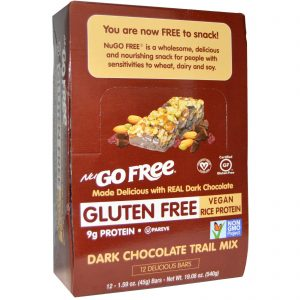 NuGo Nutrition, NuVai Livre, Mix de Chocolate Escuro, Sem Glúten, 12 Barras, 1.59 oz (45 g) Cada   Comprar Suplemento em Promoção Site Barato e Bom