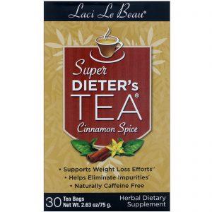 Natrol, Laci Le Beau, Super Dieter's Tea, Canela, 30 Sachês de Chá, 2,63 oz (75 g)   Comprar Suplemento em Promoção Site Barato e Bom
