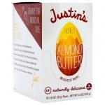 Justin's Nut Butter, Manteiga de Amêndoas e Mel, 10 Pacotinhos de Apertar, 1.15 oz (32 g) Cada   Comprar Suplemento em Promoção Site Barato e Bom