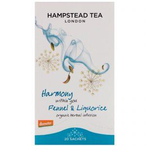 Hampstead Tea, Organic Fennel & Liquorice, 20 Sachets,1.06 oz (30 g)   Comprar Suplemento em Promoção Site Barato e Bom