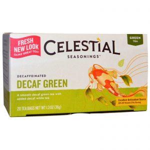 Celestial Seasonings, Chá Verde, Descafeinado, Decaf Green, 20 Pacotes de Chá, 1,3 oz (36 g)   Comprar Suplemento em Promoção Site Barato e Bom