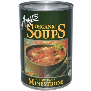 Amy's, Sopas Orgânicas, Sopa Grossa de Vegetais e Macarrão Baixo Teor de Gordura, 14.1 oz (400 g)   Comprar Suplemento em Promoção Site Barato e Bom