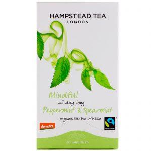Hampstead Tea, Organic, Peppermint & Spearmint, 20 Sachets, 1.06 oz (30 g)   Comprar Suplemento em Promoção Site Barato e Bom
