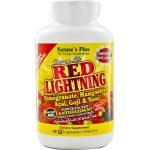 Nature's Plus Fonte da Vida Red Lightning 180 Cápsulas Vegetarianas   Comprar Suplemento em Promoção Site Barato e Bom