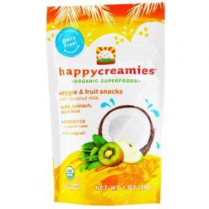 Happy Bebê Creamies Apple feliz espinafre Ervilha e Kiwi 8-1 Bolsas oz   Comprar Suplemento em Promoção Site Barato e Bom