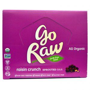 Go Raw, Barra de Broto Orgânica, Crocante de Uva-passa, 10 Barras, 14 g Cada   Comprar Suplemento em Promoção Site Barato e Bom