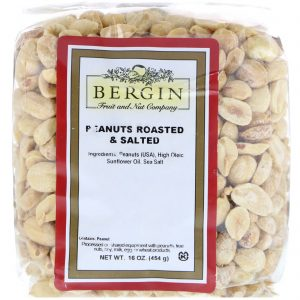 Bergin Fruit and Nut Company, Amendoim Branco, Assado & Salgado, 16 oz   Comprar Suplemento em Promoção Site Barato e Bom