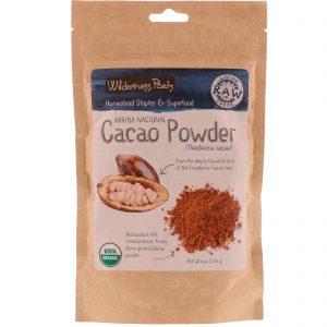 Wilderness Poets, Arriba Nacional Cacao Powder, 6 oz (170 g)   Comprar Suplemento em Promoção Site Barato e Bom