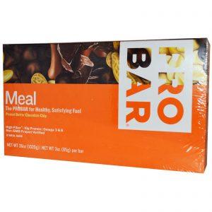 ProBar, Barra de refeição, pasta de chocolate de manteiga de amendoim, 12 barras, 3 oz (85 g) por barra   Comprar Suplemento em Promoção Site Barato e Bom