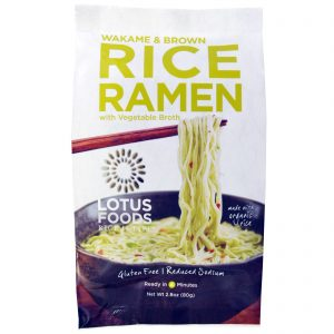 Lotus Foods, Lámen de Arroz Integral e Wakame, com Ensopado de Vegetais, 10 Unidades, 2,8 oz (80 g) cada   Comprar Suplemento em Promoção Site Barato e Bom