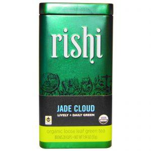 Rishi Tea, Folhas Soltas de Chá Verde Orgânico, Nuvem de Jade, 1.94 oz (55 g)   Comprar Suplemento em Promoção Site Barato e Bom